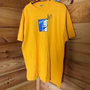 SIGNED LESS THAN JAKE YELLOW GRAPHIC BAND TEE